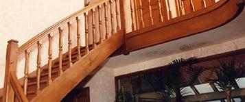 Escaliers à balustres tournées